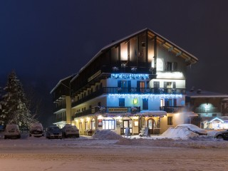 Relais du Galibier Winter exterior view