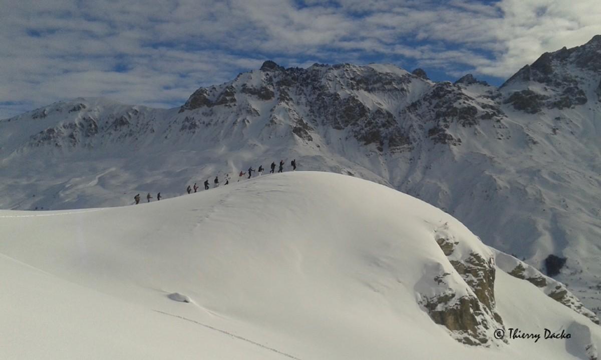 randonnée raquette neige valloire