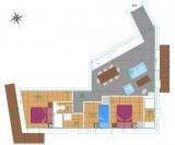 Plan Appartement - Epinette 204 - Valloire Centre