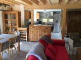 Salon et cuisine - Chalet Les grands Ducs - Valloire - Les Verneys