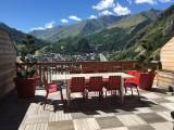 Vue Eté - Terrasse des Choseaux appartement C1 - Valloire - Séjour Montagne