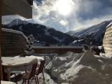 Vue hiver - Terrasse des Choseaux appartement C1 - Valloire - Séjour Ski