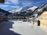Vue hiver - Terrasse des Choseaux appartement D2 - Valloire - Séjour Ski